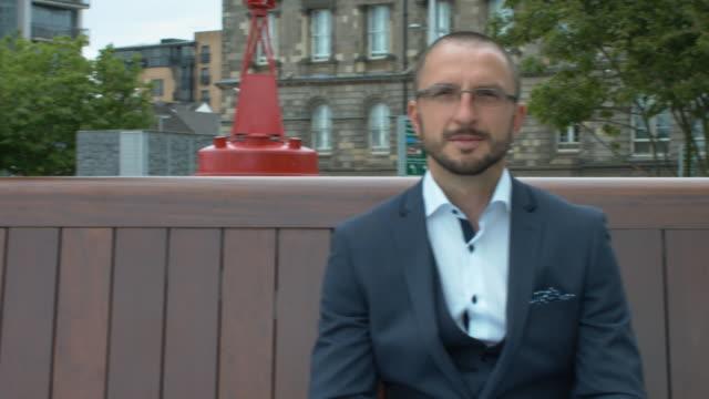 A Handsome Marketing Executive Smiling video