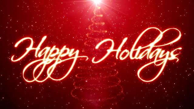 handwritten happy holidays - happy holidays stock videos & royalty-free footage
