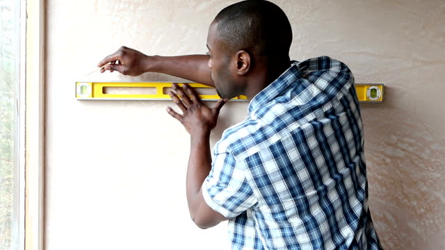 Handyman Using Spirit Level video