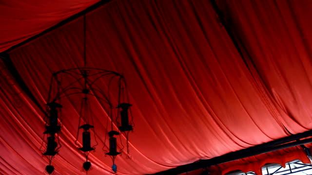 hang lampada e tessuto rosa - stile del xix secolo video stock e b–roll