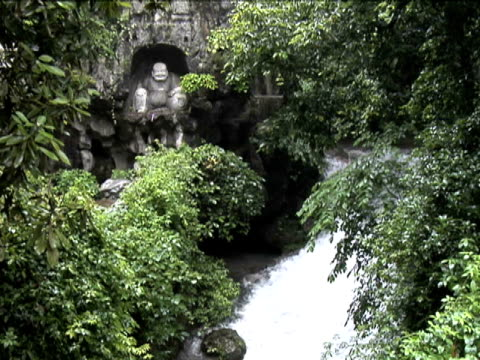 hang zhou lingyin temple and garden 10 - i̇badet yeri stok videoları ve detay görüntü çekimi