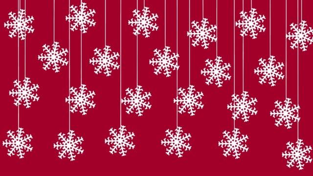 Hanging christmas snowflakes