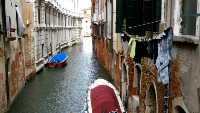 Hanging Clothes on the Street after been Washed in Venice, Italy video