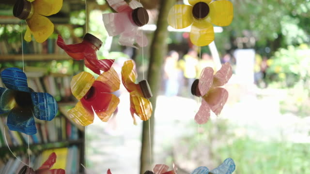 Hanging colorful artificial flower decoration