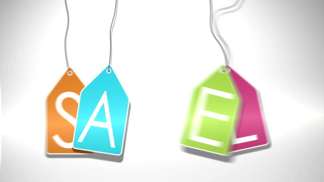 Hanging sale sign video