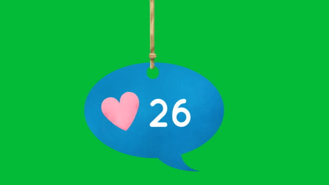 Hanging speech bubble with numbers 4k
