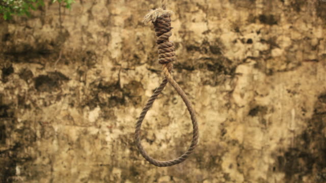 Hangman's Noose HD Noose swaying. hanging stock videos & royalty-free footage