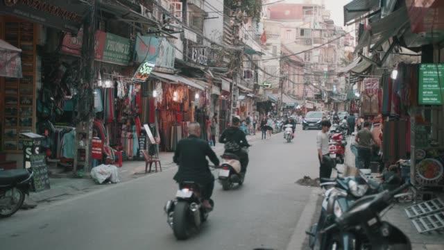 Hanoi Old Quarter street scene video