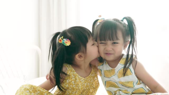 Happiness time :Kissing one's sister video