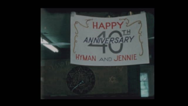 1960 Happy 40th Anniversary sign and cake video