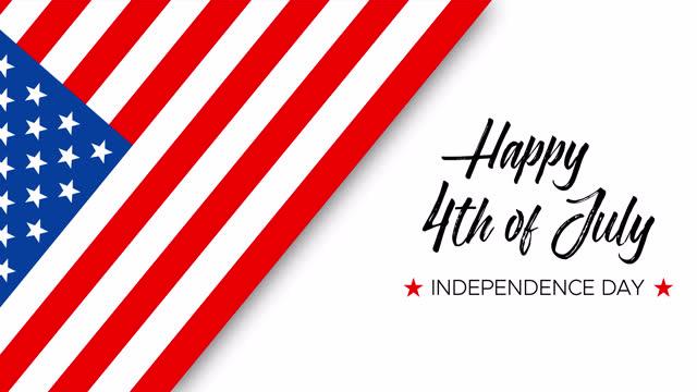 vídeos y material grabado en eventos de stock de feliz 4 de julio, día de la independencia, texto animado escrito a mano - july 4th