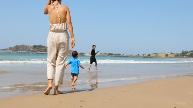 Happy Aboriginal Australian Family at the Beach video