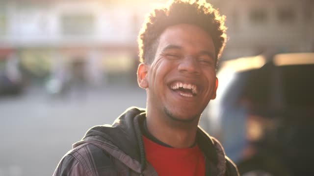 Happy African Ethnicity Young Man Portrait Portraits real people stock videos & royalty-free footage