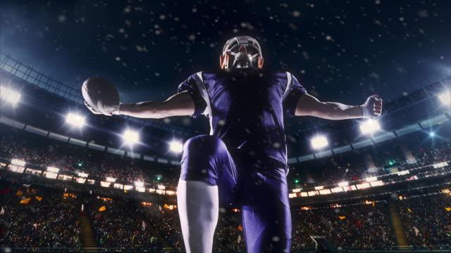 Jugador de fútbol americano feliz - vídeo