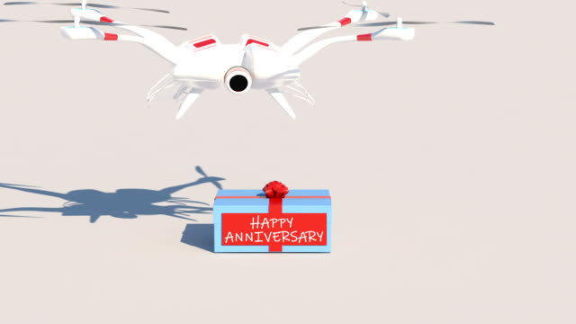 Happy Anniversary Gift Drone Animation video