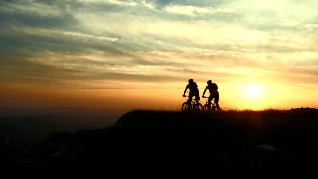 HD CRANE: Happy Bikers Arrives On The Destination video