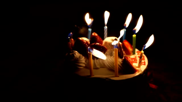 Happy Birth Day Cake with candle video