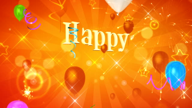 Happy birthday background Happy birthday text appears on beautiful background birthday background stock videos & royalty-free footage