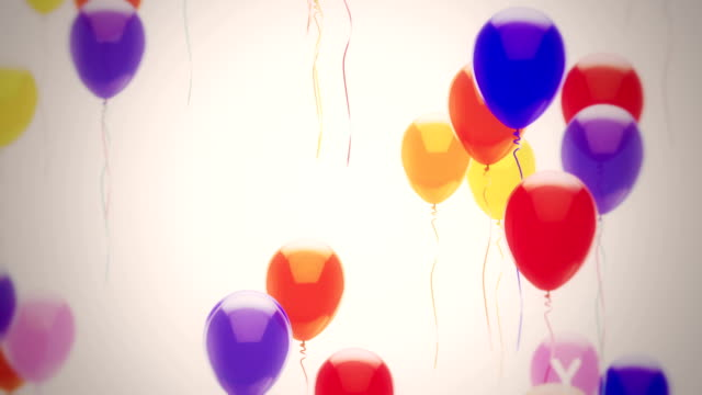 Happy Birthday Balloons Happy Birthday balloons animation  happy birthday stock videos & royalty-free footage