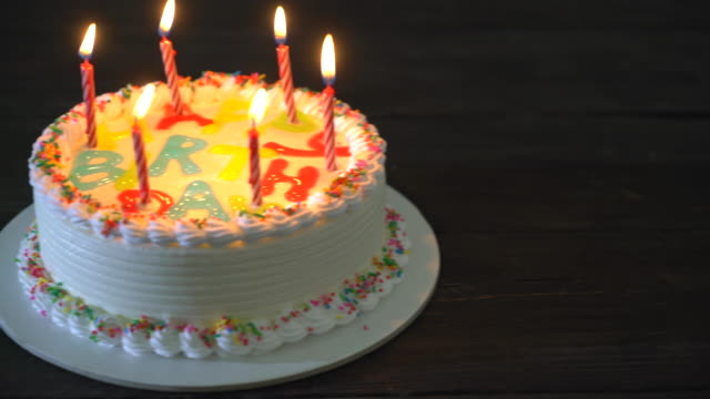 Happy Birthday Cake Stock Video More Clips Of 4k Resolution Istock