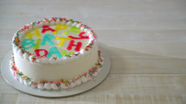 Happy Birthday Cake Stock Video More Clips Of 4k Resolution