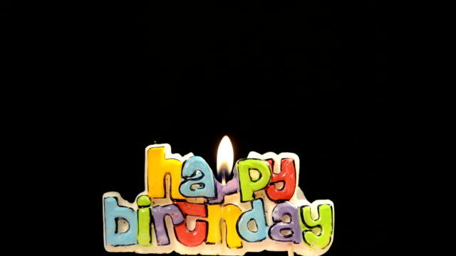 happy birthday kerzen - geburtstagskerze stock-videos und b-roll-filmmaterial