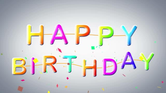 happy birthday celebration video
