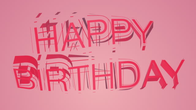 stockvideo's en b-roll-footage met happy birthday kleurrijke tekst - spandoek