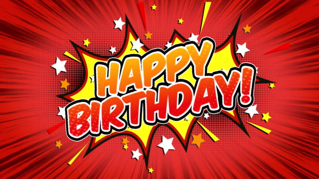 happy birthday - Comic Style Text Comic Style Text happy birthday stock videos & royalty-free footage