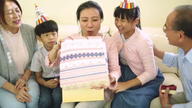 happy birthday, grandma! - reunion stock videos & royalty-free footage