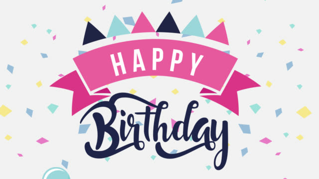 Happy Birthday Greeting Card Animation Stock Video Download Video Clip Now Istock