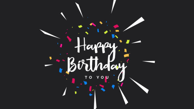 Happy birthday greeting card animation. Happy birthday greeting card animation. Birthday greeting card. Animated footage happy birthday stock videos & royalty-free footage