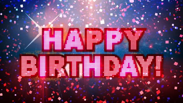 Happy Birthday Mega Party!  happy birthday stock videos & royalty-free footage
