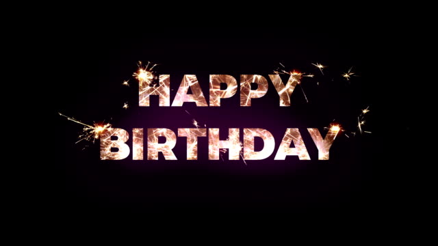 Happy Birthday text made of bengal lights Happy Birthday text made of bengal lights. Title Design Animation happy birthday stock videos & royalty-free footage
