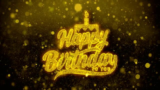 祝你生日快樂閃爍祝福問候卡、邀請、慶祝焰火 - thank you background 個影片檔及 b 捲影像