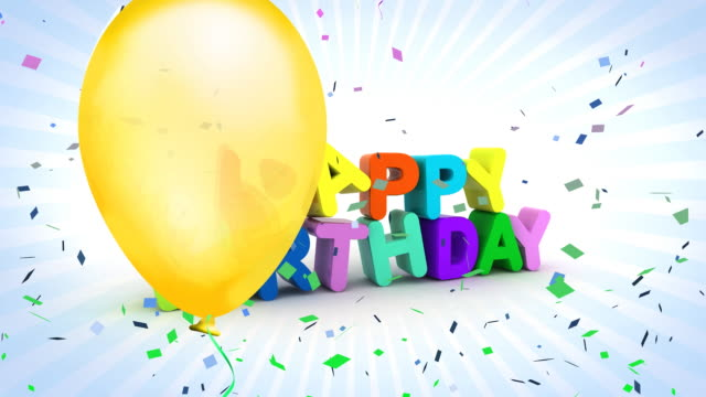 happy birthday HD 1080i 1920x1080 30 frame Quictime MOV PhotoJPEG happy birthday stock videos & royalty-free footage