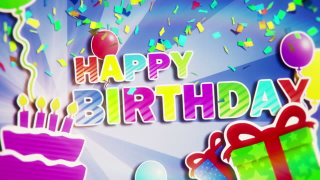 Happy Birthday Animated birthday card, perfectly usable as a birthday greeting for your family, friends, or customers. Created in Adobe After Effects.  More from this series:  [url=http://www.istockphoto.com/stock-video-20298689-happy-anniversary.php]Happy Anniversary [img]http://www.trilight-visions.de/Stock_Preview/210.jpg[/img][/url]  [url=http://www.istockphoto.com/stock-video-20301294-congratulations.php]congratulations [img]http://www.trilight-visions.de/Stock_Preview/211.jpg[/img][/url] happy birthday stock videos & royalty-free footage
