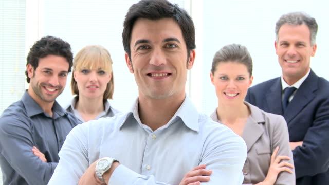 Happy business team video