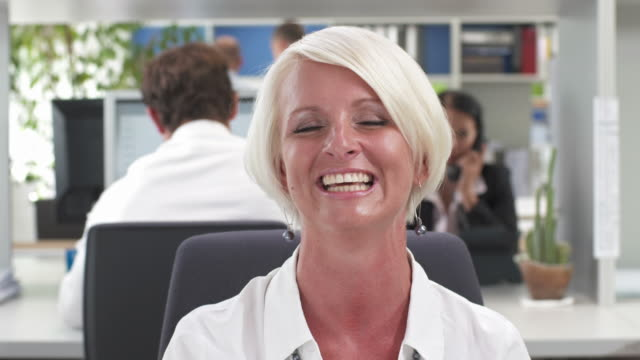 HD: Happy Business Woman During Video Conference video
