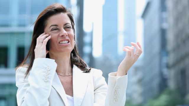 Happy Cell Phone Business Woman video