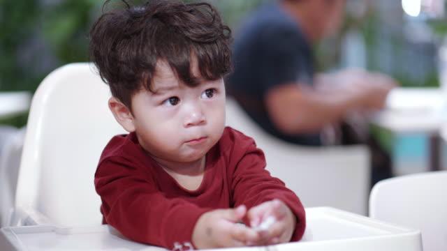 Happy child waiting eat