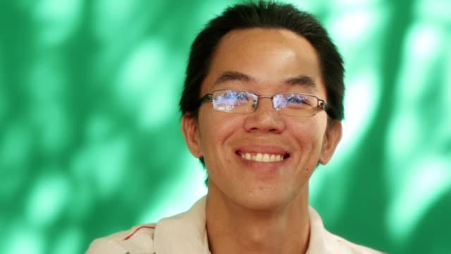 Happy Chinese Latino Young Man Asian Hispanic People Smiling video