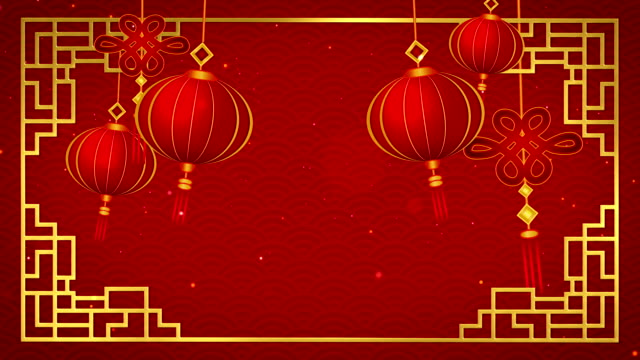 Happy chinese new year 2019 with pendants on red background looped Happy chinese new year 2019 with pendants on red background looped. chinese new year stock videos & royalty-free footage