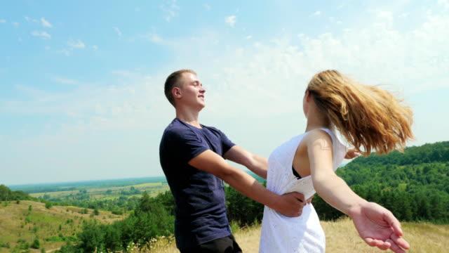 Happy Couple Having Fun Outdoor video