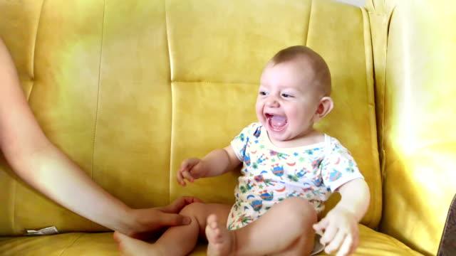 Happy Cute Boy Laughing Loud