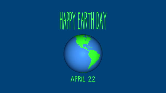 4K Happy Earth Day Animation |Loopable Animation of earth Day. HD 3840x2160 earth day stock videos & royalty-free footage