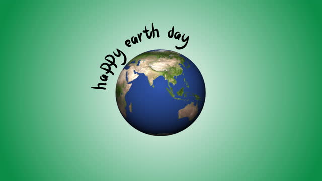 4K Happy Earth Day Animation loopable 4K Happy Earth Day Animation 3840x2160 earth day stock videos & royalty-free footage