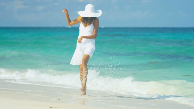 Happy Ethnic Girl Loving Island Lifestyle video