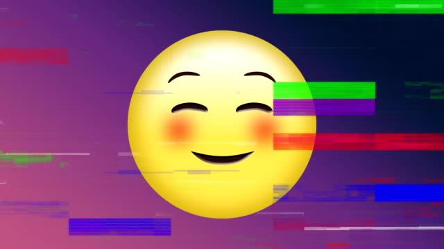 emoji del volto felice - rappresentazione umana video stock e b–roll