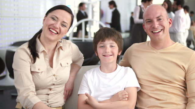 HD: Happy Family In The Bank video